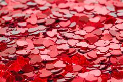 Full frame background of heart shaped sprinkles Stock Photos