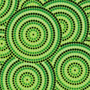 Stock Illustration of Abstract Aboriginal dot painting in vector format.