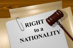 Right to a Nationality concept - stock illustration