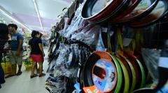 Maximark supermarket interrior in Nha Trang city in Vietnam Stock Footage