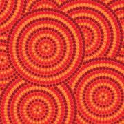 Abstract Aboriginal dot painting in vector format. - stock illustration