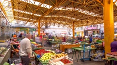Famous market in Sarajevo city - stock footage