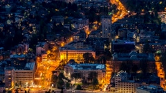 Time Lapse of traffic through Sarajevo Stock Footage