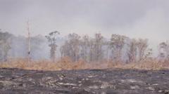 4K RAW Lava Flow LandScape 01 Stock Footage