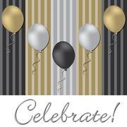 Elegant balloon celebration card in vector format. - stock illustration