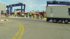 Container Port Cargo Timelapse Stock Footage