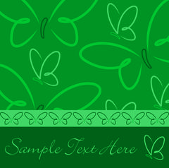 All occasion green butterfly card in vector format. - stock illustration