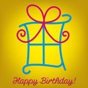 "Bright ""Happy Birthday"" card in vector format. - stock illustration"