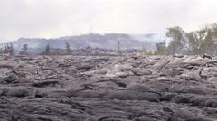 4K RAW Lava Flow LandScape 03 - stock footage