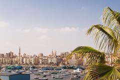 Panorama view of Alexandria, Egypt. Stock Photos