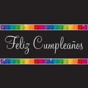 Spanish 'Happy Birthday' card in vector format. Stock Illustration