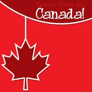 Canada Day string card in vector format. - stock illustration
