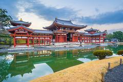 Byodo-In Temple in the city of Uji in Kyoto Prefecture, Japan. - stock photo