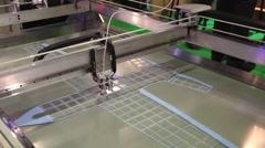 3d printer printing Stock Footage
