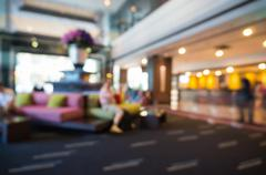 Abstract Blurry or Defocus Background of Hotel Lobby - stock photo