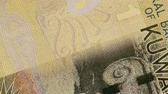 1 Kuwaiti dinar banknote.  360 rotation Stock Footage