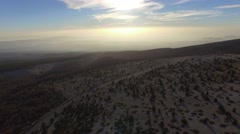 Landscape on the south slopes of Mont-Ventoux, France – aerial view by drone Stock Footage