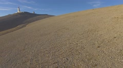 Road to the summit of Mont-Ventoux, France – aerial view by drone Stock Footage