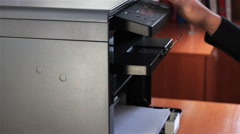The Printer In Action 1 - stock footage