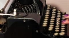 Old Typewriter 6 - stock footage