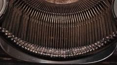 Old Typewriter 2 - stock footage