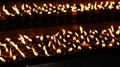 Candles/oil lamps - pan from right to left Stock Footage