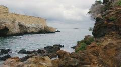 Sea waves on the rocky coast Stock Footage