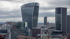 Timelapse london city skyline skyscrapers architecture england urban Stock Footage