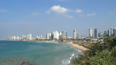 Mediterranean sea, Israel, Tel Aviv Stock Footage