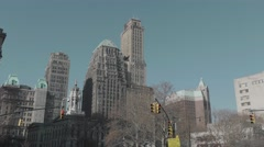 Downtown Brooklyn, Borough Hall as seen from Fulton Street - stock footage