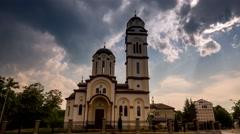 Bogojavljenska Church in Banjaluka by day Stock Footage