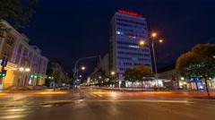 Night scene of Banjaluka city in 4K Stock Footage