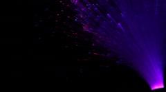 Fiber Optic Lights Fountain  - stock footage