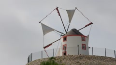 Portugal, a typical windmill - stock footage