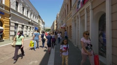 Streets of Banjaluka in 4K by day Stock Footage