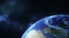 Asteroids flying towards earth, going to hit - stock footage