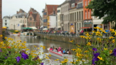 Ghent city view, belgium, 4k Stock Footage