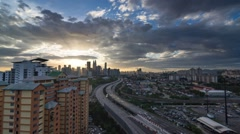 Cloudy Evening in Kuala Lumpur City Time Lapse Stock Footage