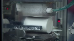 Blocks of soap e production line for making bath soap Stock Footage