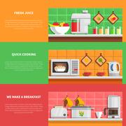 Household Appliances Banners Set Stock Illustration