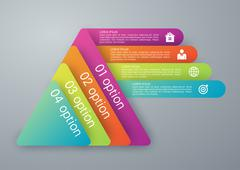Vector illustration infographics four options - stock illustration