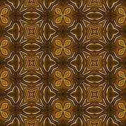 Golden ornament - kaleidoscopic wallpaper tiles - stock illustration