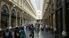 BRUSSELS - BELGIUM, AUGUST 2015: Galeries Royales Saint Hubert Stock Footage