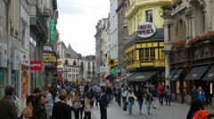 BRUSSELS - BELGIUM, AUGUST 2015: daily life in streets Stock Footage