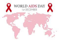 Vector illustration of world aids day - stock illustration