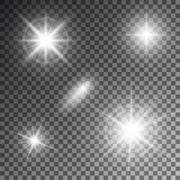 Vector illustration of abstract flare light rays Stock Illustration