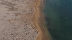 Prado beach, Marseille, France by drone - stock footage