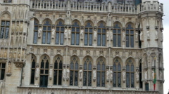 Grand place, brussels old city square panning, 4k Stock Footage