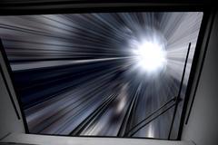 way of high-speed train - stock photo