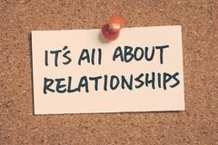 it's all about relationships - stock photo